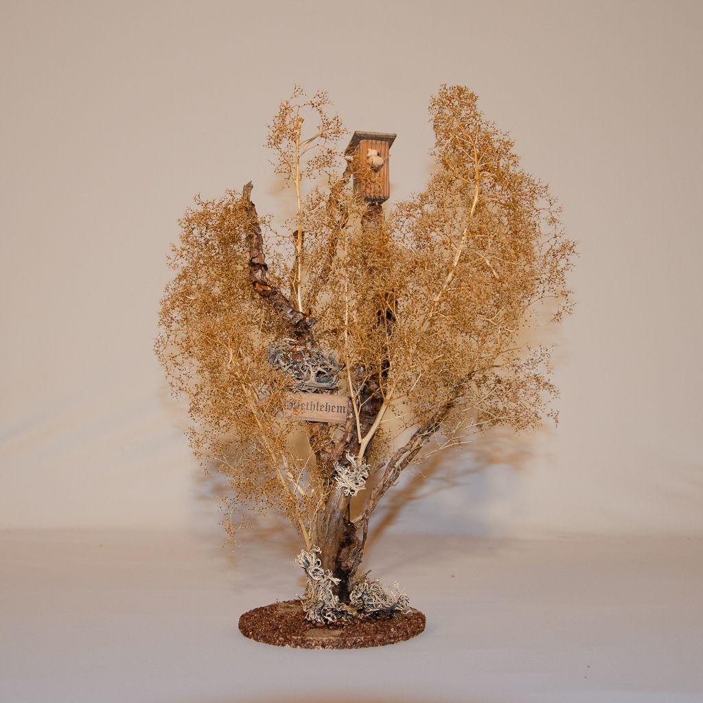Wegweiser Bethlehem an Baum mit Vogelhaus