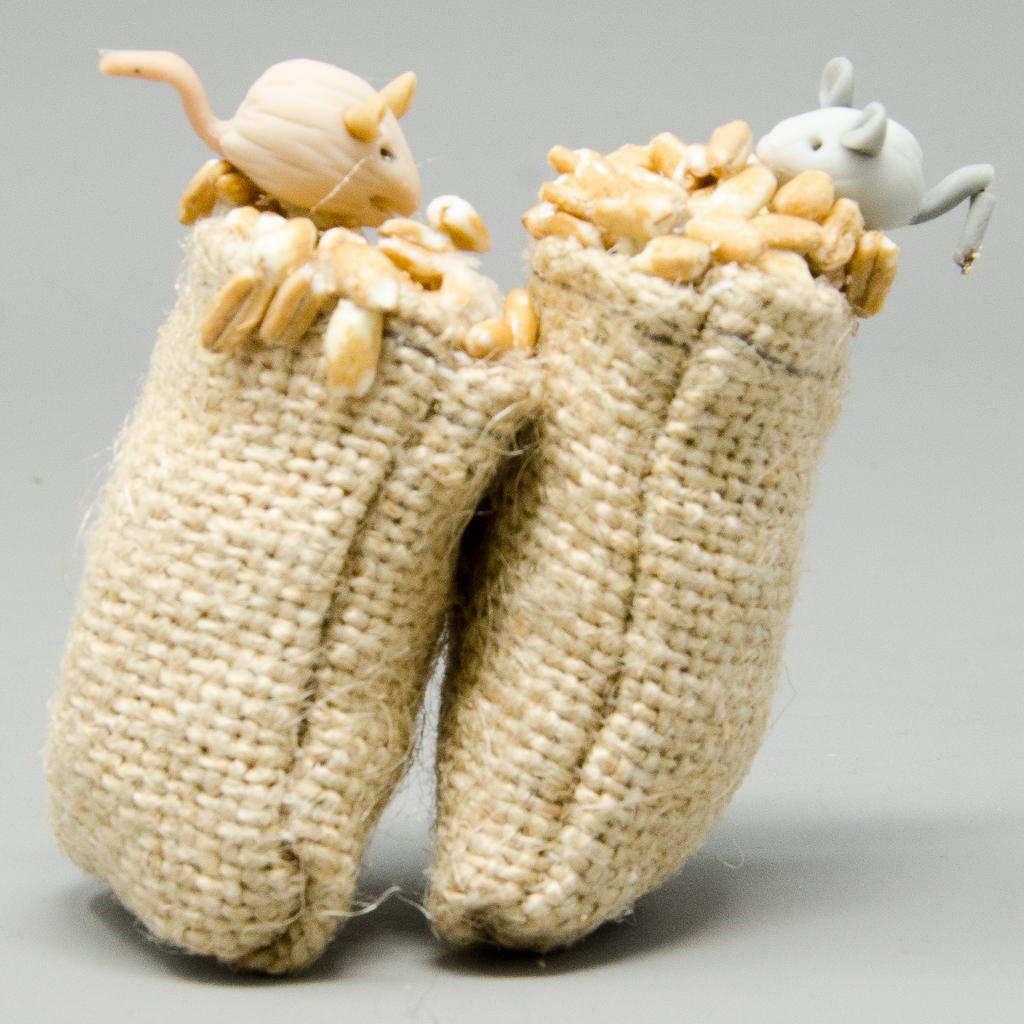 Getreidesäcke mit Mäuse