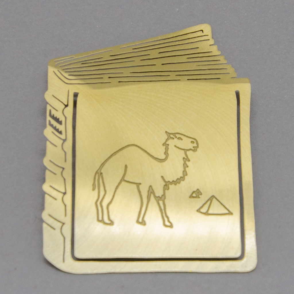 Lesezeichen - Buch mit Kamel