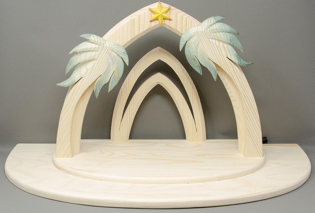 Stall Aida mit Palmen