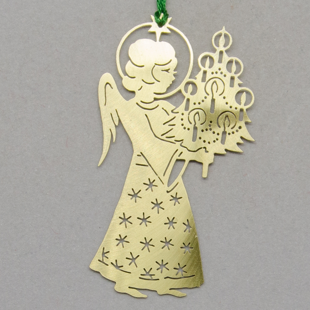 Christkind mit Weihnachtsbaum