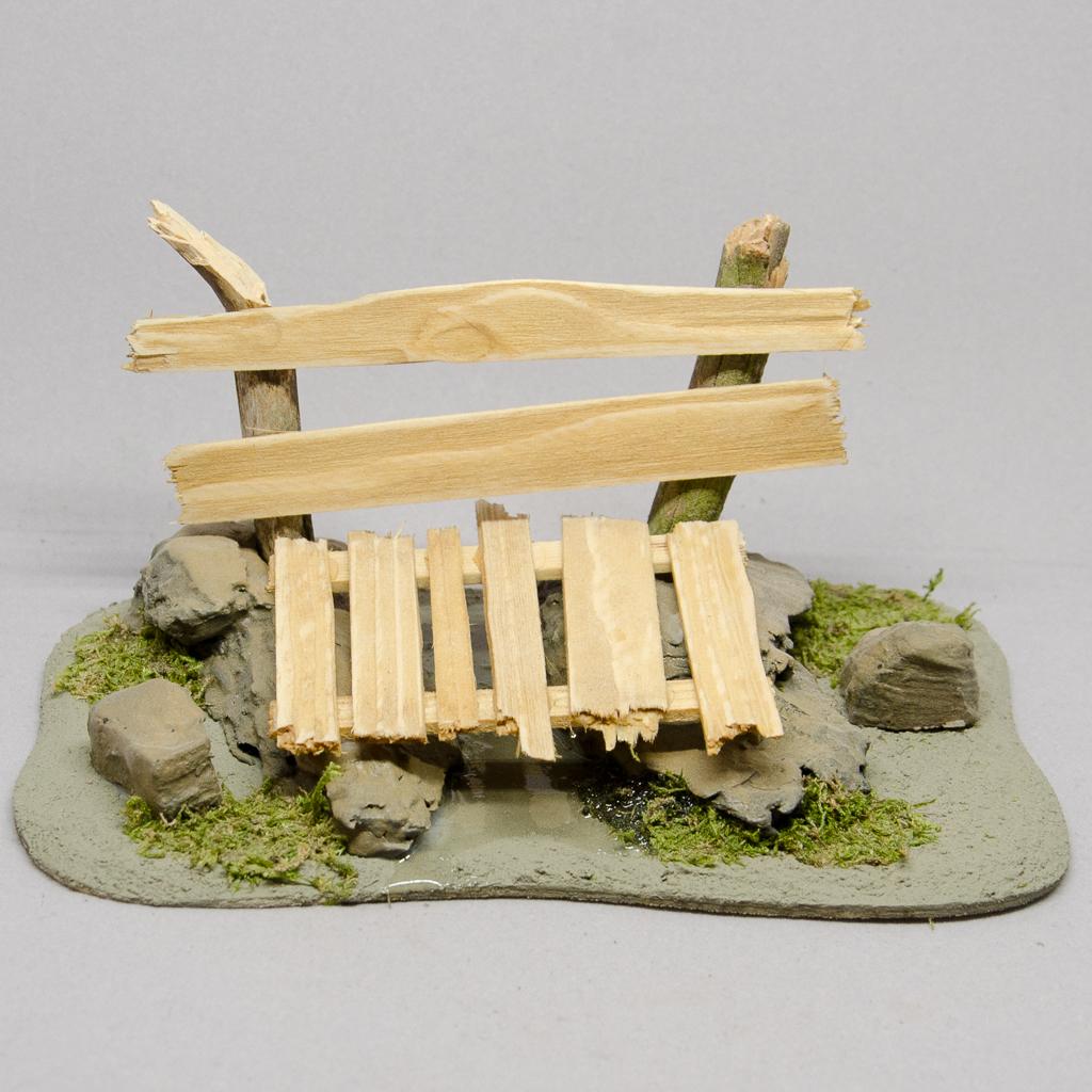 Holz Brücke mit Landschaft