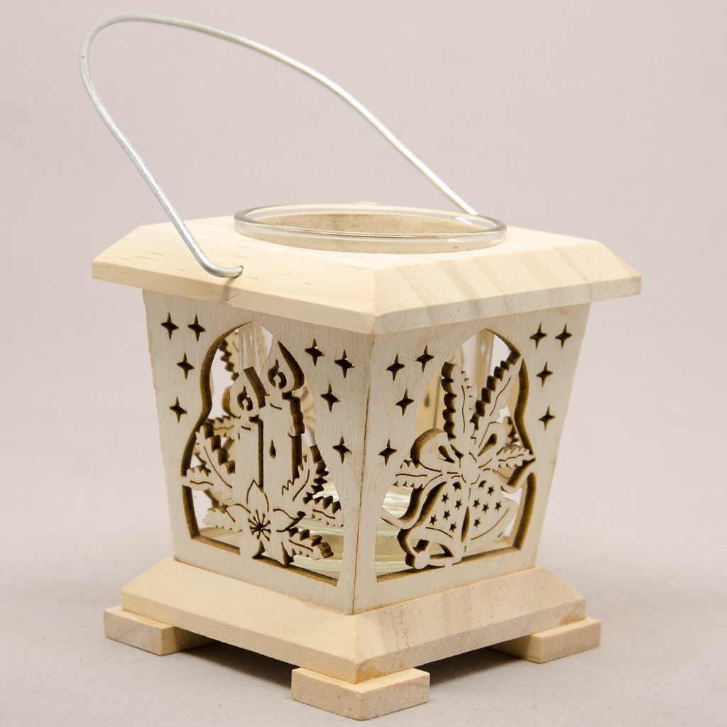Laterne mit Kerzen / Glocken