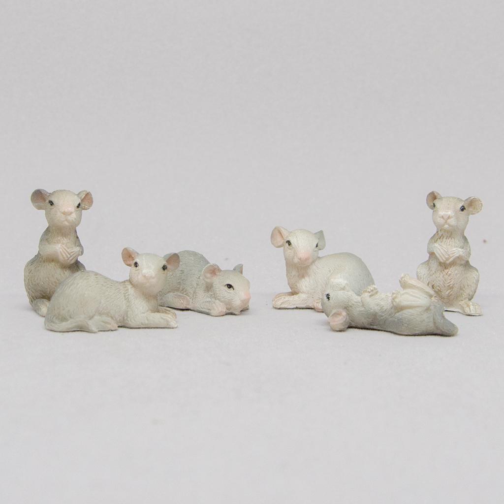 Mäusefamilie Set 6-teilig