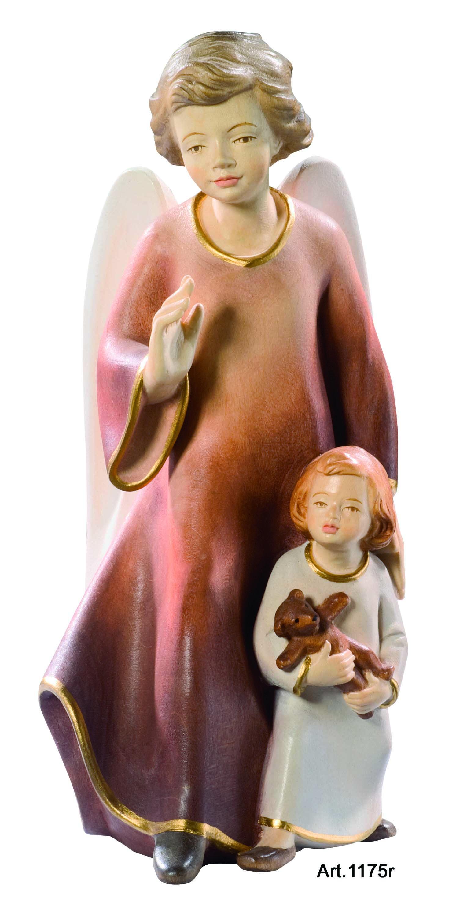 Schutzengel mit Mädchen und Teddy