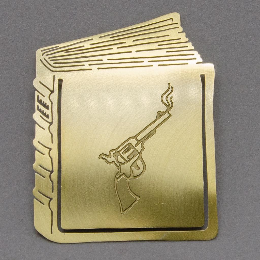 Lesezeichen - Buch mit Colt