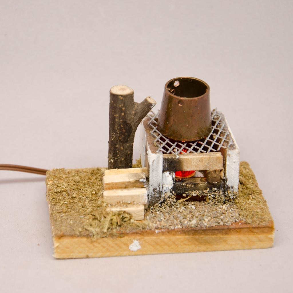 Feuerstelle mit Kupferkessel