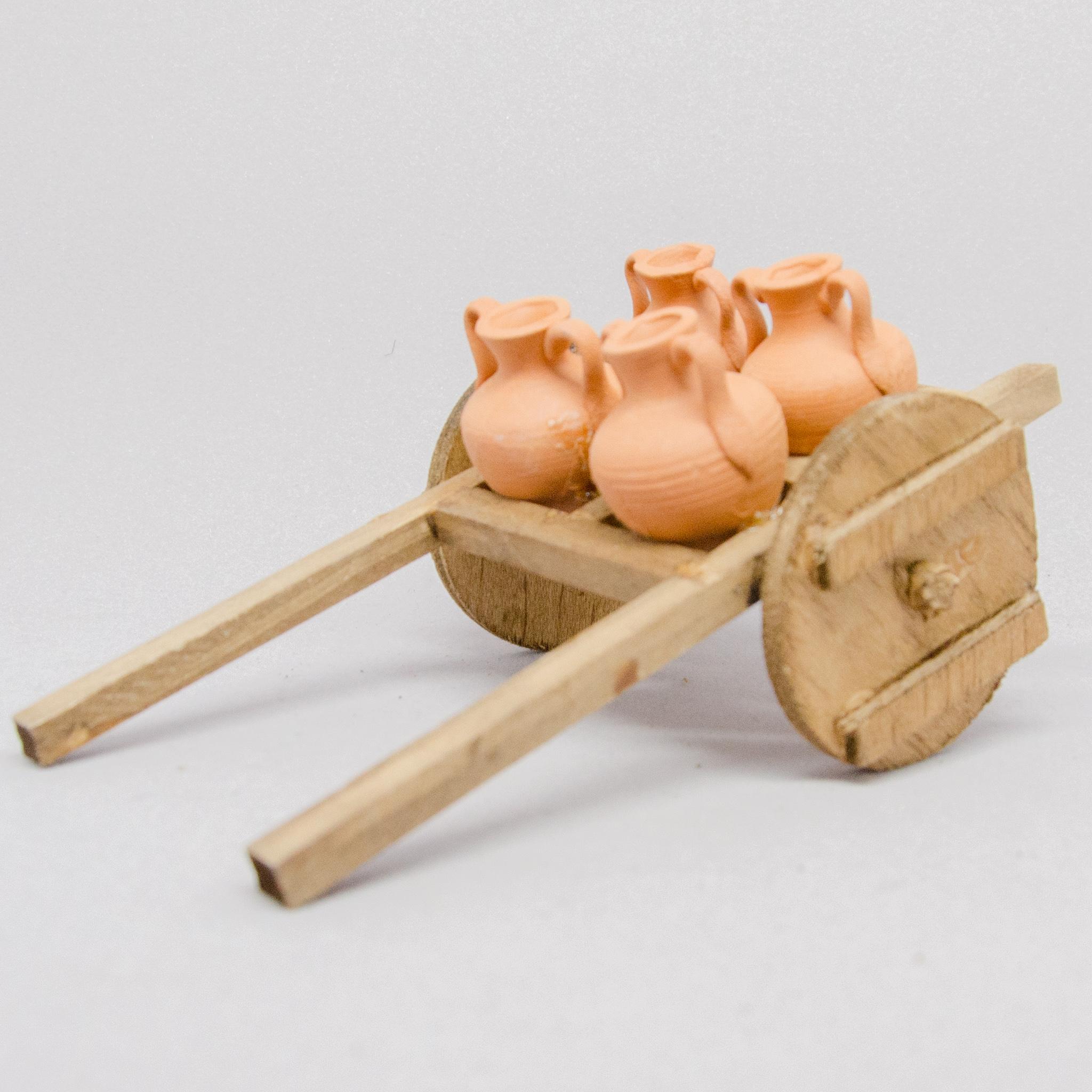 Leiterwagen mit Terrakottakrüge