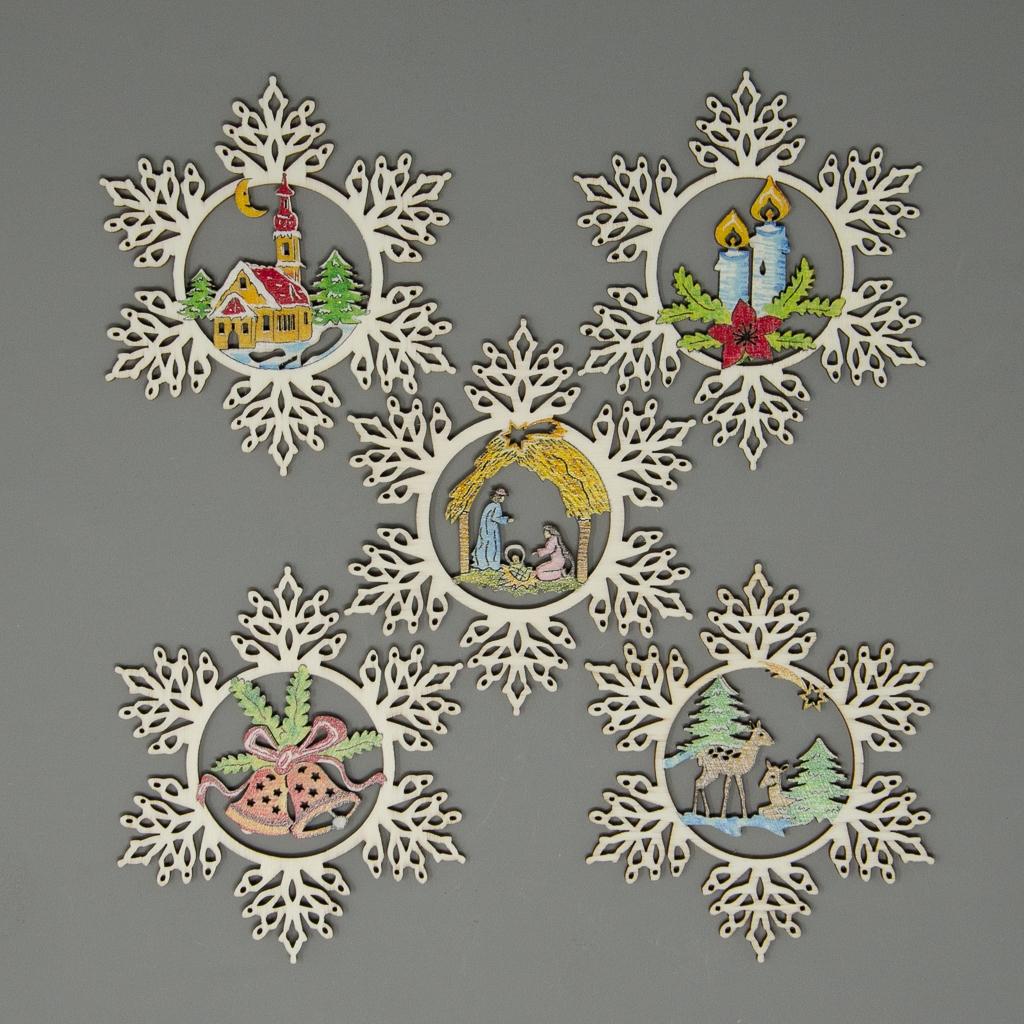 Set Schneeflocken