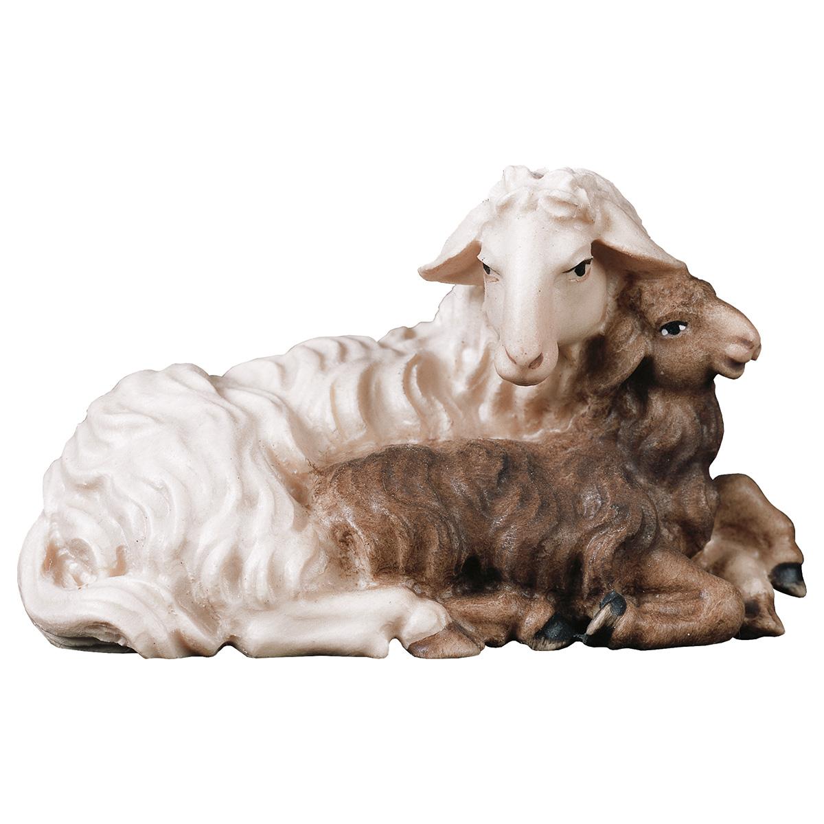 Schaf mit Lamm liegend