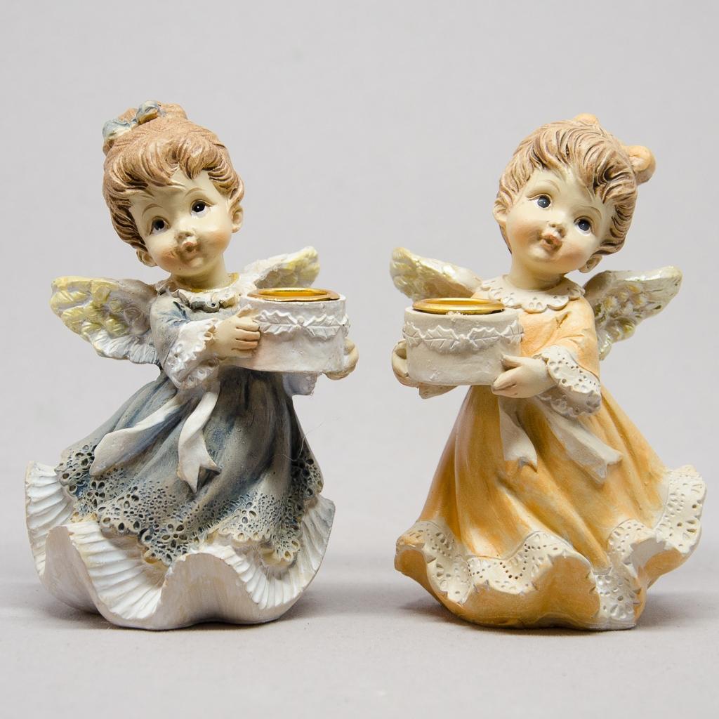 Engel 2er Set für Kerzen