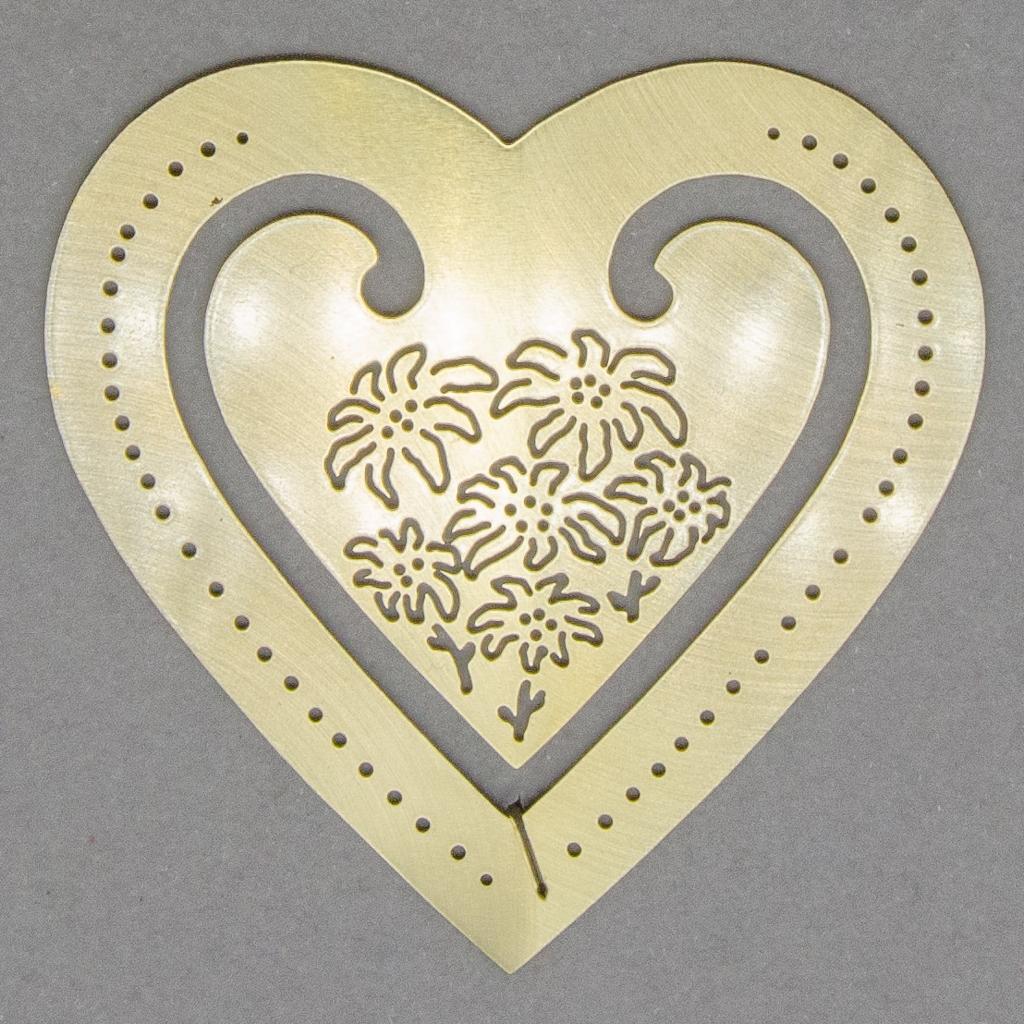 Lesezeichen - Herz mit Edelweiß