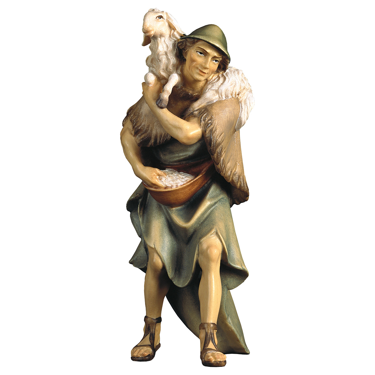 Hirte mit Schaf auf Schultern