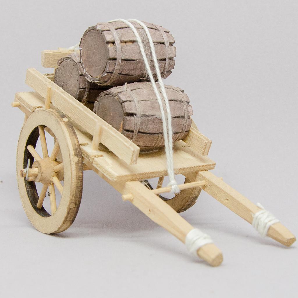 Leiterwagen mit Holzfässer