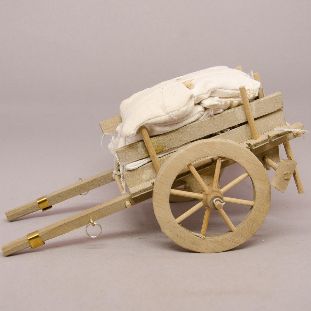 Leiterwagen mit Säcke beladen