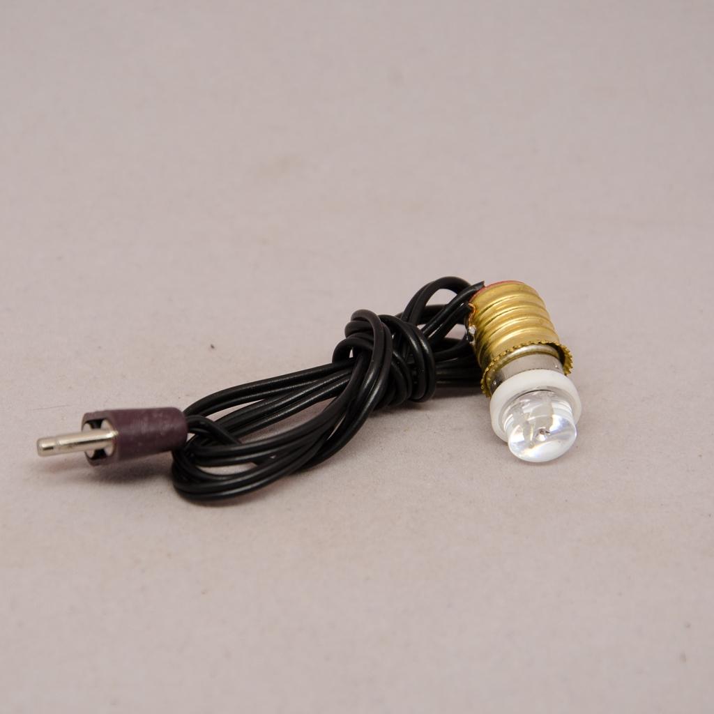LED 3,5 Volt mit Fassung, Kabel und Stecker