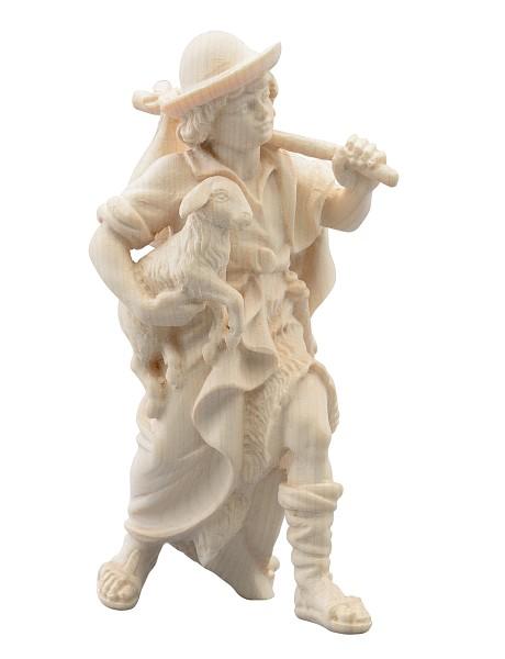 Junge mit Schaf und Brotzeitsack