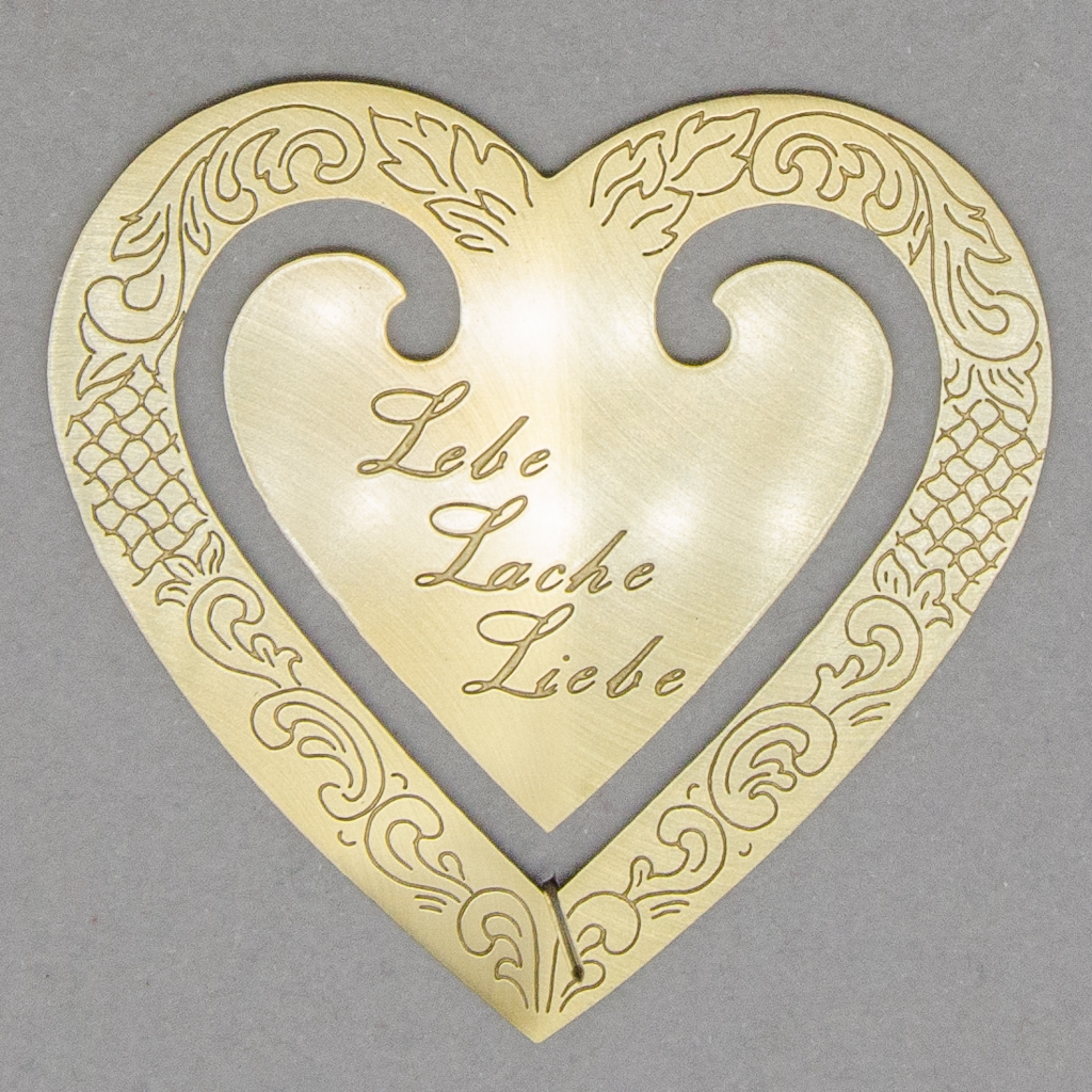 """Lesezeichen - Herz """"Lebe, Lache, Liebe"""""""